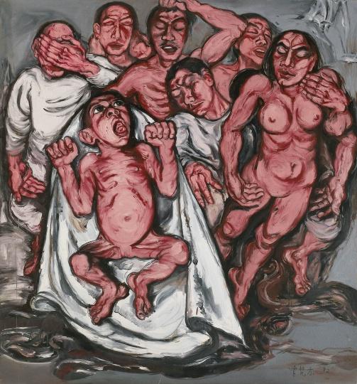 2 《肉系列之三 献血过量》 180×167cm 布面油画 1992.jpg