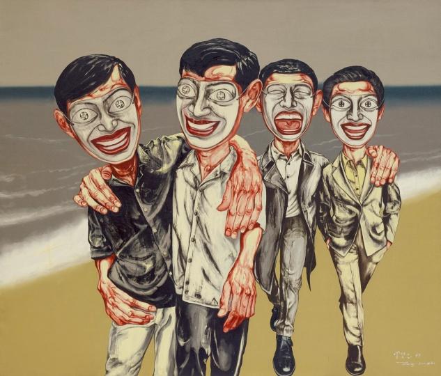 6 《面具系列 4号》 169×199cm 布面油画 1997.jpg