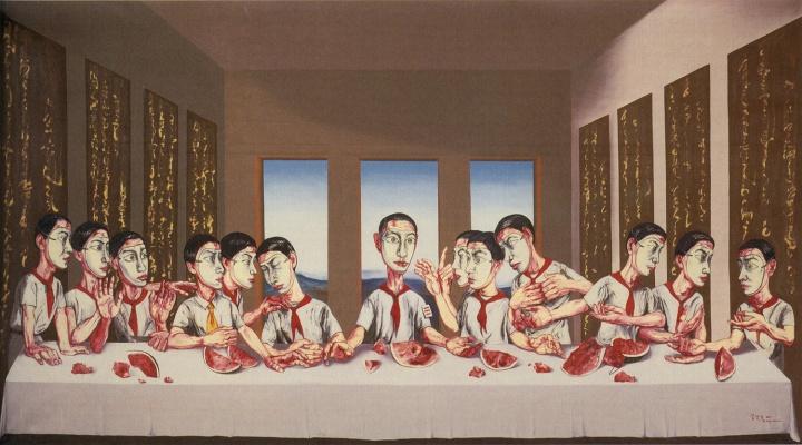 9 《最后的晚餐》220×395cm 布面油画 2001.jpg