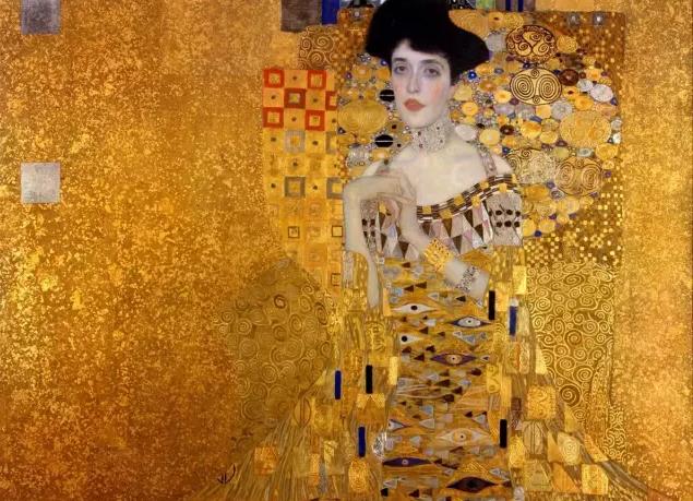金色背后是历史的厚重感/克里姆特《鲍尔夫人肖像》